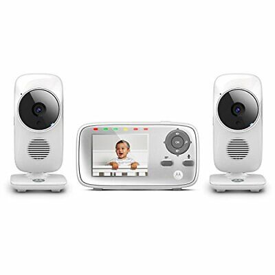 """Motorola MBP483-2 2.8"""" Video Baby Monitor with Two Cameras"""
