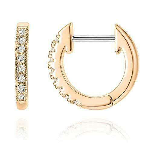 PAVOI 14K Rose Gold Plated Post Cubic Zirconia Cuff Earring