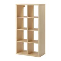 Recherche étagère IKEA modèle Kallax 8 cubes, couleur bouleau