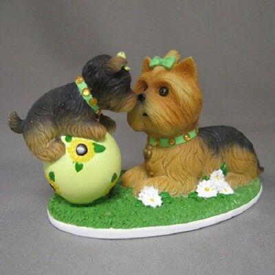 You Always Brighten My Day Yorkie Dog and Pup Figurine Bradford Exchange