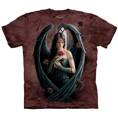 The Mountain ANGEL ROSE T Shirt Fairy Black Wings Goddess Medieval Tee S- 5XL  ()