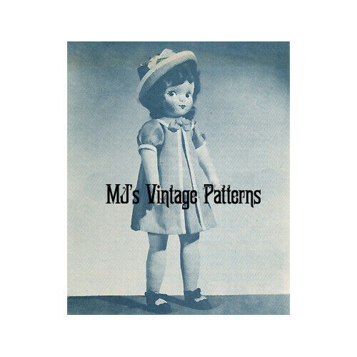 Vintage Pattern to make a Cloth Doll with attached Plastic Face