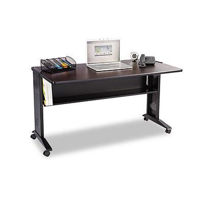 Mobile Computer Desk Wreversible Top 53.5 X 28 X 30 Mahoganymedium...