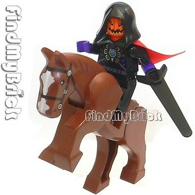 C415 Lego Headless Horseman Jack O' Lantern Evil Pumpkin Minifigure & Horse NEW for sale  Elk Grove