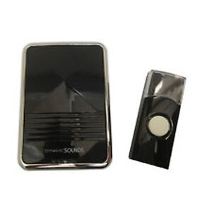 Black Digital Wireless Door Bell Chime Push Cordless Front