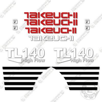 Takeuchi Tl 140 Mini Excavator Decals Equipment Decals Tl140 Tl-140