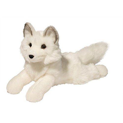 """YUKI plush 13"""" long ARCTIC FOX Douglas Cuddle stuffed animal"""