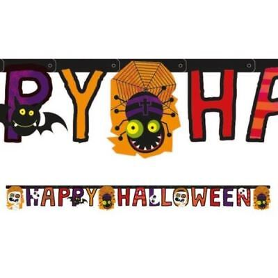 Spooky Horror HAPPY HALLOWEEN Letter Banner Jointed Garland Party Decoration