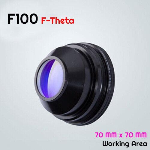F100 F-theta Scan  Field  Lens  1064 nm YAG Fiber Laser Marking 70mm X 70mm