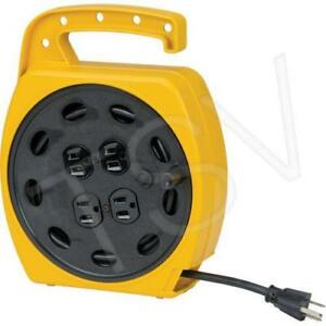 Aurora Tools Wind-Up Extension Cord 25' 4 Outlets