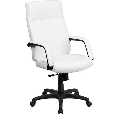 Modern High Back Memory Foam Leather Office Chair Black Or White Conference Room
