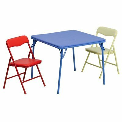 Kids Table and Chair Set Folding Indoor Arts and Crafts Coloring Painting Eating](Kids Craft Table)