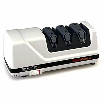 Chef's Choice 120 Diamond Hone 3-Stage Professional Knife Sharpener, White