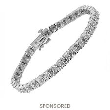 1/4 ct Diamond Tennis Bracelet in Sterling Silver