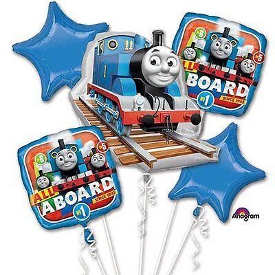Thomas Tank Engine All Aboard Foil Balloons Bouquet Birthday Party Decoration ~5](Thomas Balloons)
