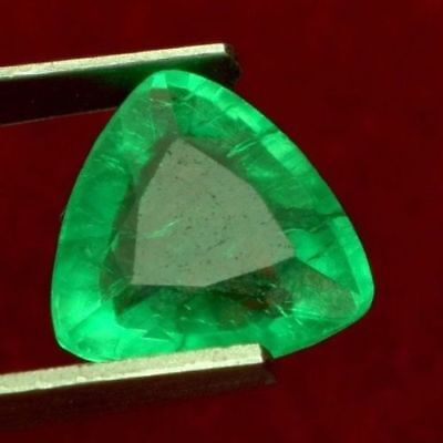 11.9x11.6mm (5.33cts) TRILLIANT-FACET CERTIFIED NATURAL (GGL) COLOMBIAN EMERALD