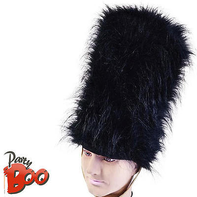 Bearskin Hat Queens Guard Adults Fancy Dress British Soldier Costume Accessory