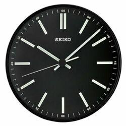 Seiko Terrier 11 Analog Quartz Quiet Sweep Black Metallic Wall Clock QXA521JLH