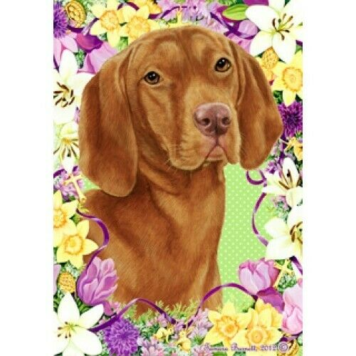 Easter House Flag - Vizsla 33052