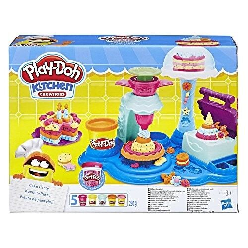 Kids Play Doh Cake Party Kitchen Creations Playset Color Mol