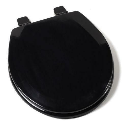 black round toilet seat ebay. Black Bedroom Furniture Sets. Home Design Ideas