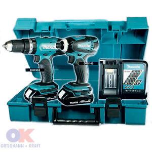 Makita DLX2020Y Akkuschlagbohrschrauber, Akkuschlagschrauber Set Nachf. DLX2020C