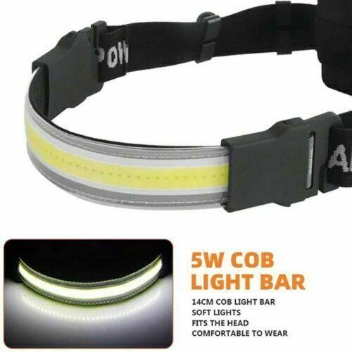 COB LED Super Bright Headlight Strip Headlamp Outdoor Headlamp Torch For Camping