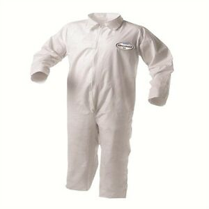 KleenGuard Coveralls - 2XL white with zipper