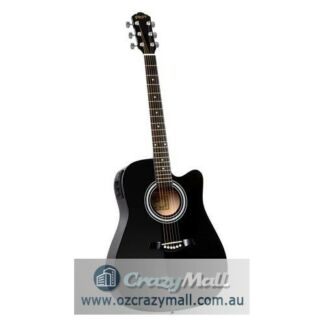 "41"" Electric Wooden Acoustic Guitar Classical Black or Natural"