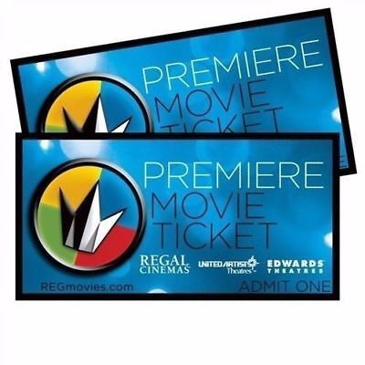10 REGAL PREMIERE MOVIE TICKETS  NO EXPIRATION