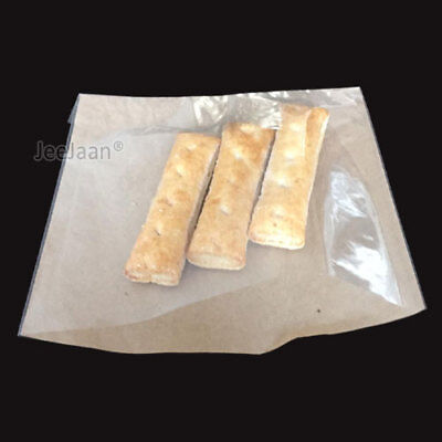 50 BROWN PAPER FILM FRONTED BAGS CLEAR FRONT WINDOW 10