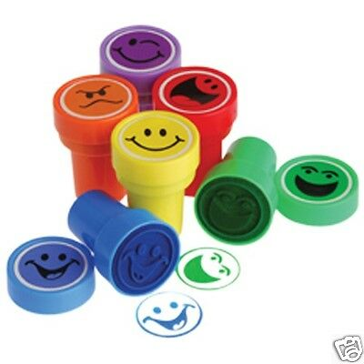 12 Emoji Smiley Face Stampers Stamp Birthday Party Goody Bag Favor Kid Craft](Party Smiley Face)