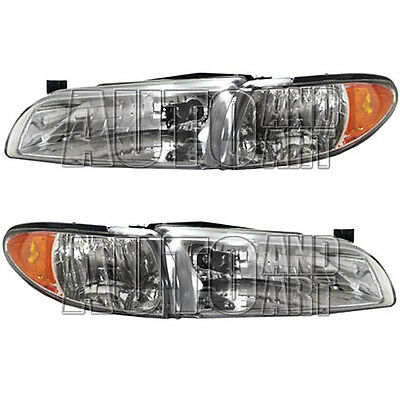 New pair set headlight headlamp lens assembly sae dot 97 for Table sae j 300 th 1999
