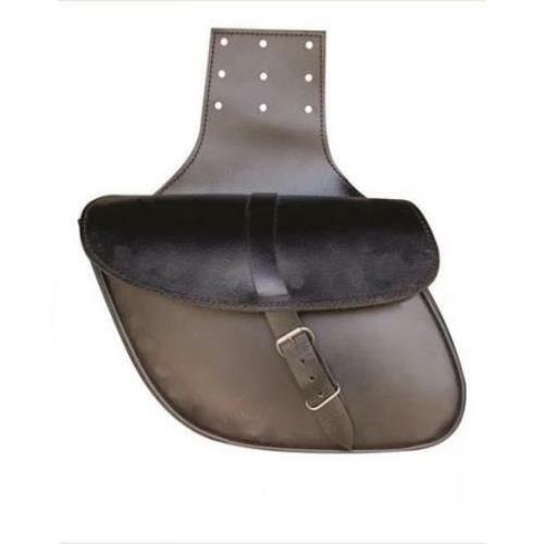 Medium Leather Plain Throw Over Saddle Bag