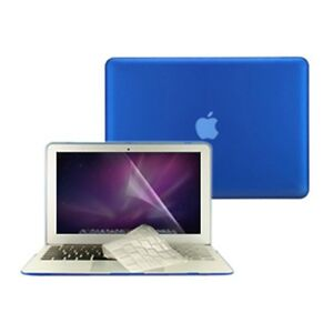 3-in1-Rubberized-ROYAL-BLUE-Case-for-Macbook-AIR-13-A1369-Key-Cover-LCD-Screen