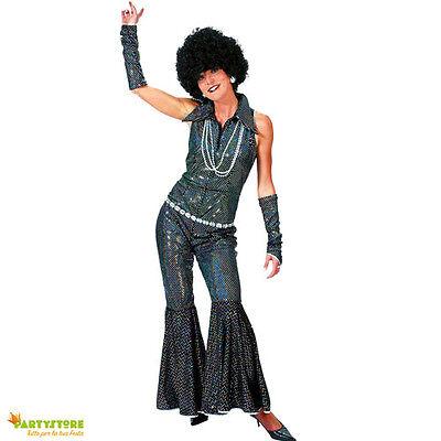 costume disco anni 70 tg 44/46 travestimento vestito festa carnevale donna