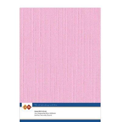 (EUR 4,81/m²) Leinenkarton 10xA4-Bogen rosa 16