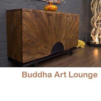 Sideboard Massivholz Vintage Intarsien 161x96x46 Landhausstil Anrichte Buffet