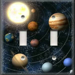 Light switch plate cover outer space solar system home decor for Outer space home decor