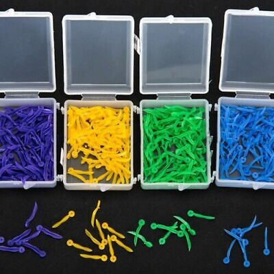 100 Pcs Dental Plastic Poly Wedges With Dental Dentist Holes 4colors 4 Sizesset