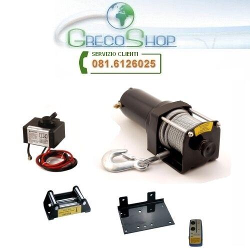 Verricello//Argano//Paranco elettrico 12V 3500 lbs con telecomando wireless