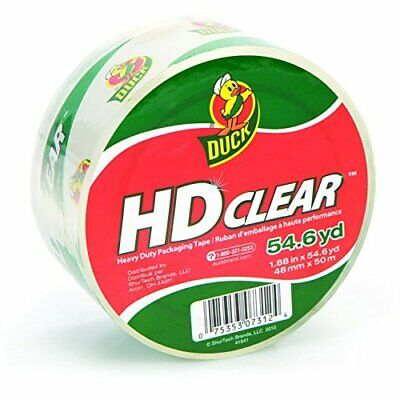 Duck Hd Clear High Performance Crystal Clear Packing Tape 1.88 X 54.6 Yards