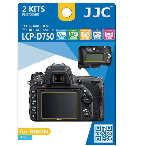 JJC LCP-D750 polycarbonate LCD Film Screen Protector For Nikon D750 2 Pack