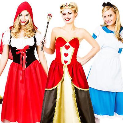 Fairytale Character Ladies Fancy Dress Storybook Book Day Week Womens - Storybook Characters Kostüm