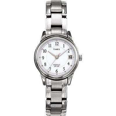 Timex T29271, Women's Silvertone Bracelet Watch, Indiglo, Date