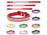 Bling Dog Collar - Joblot in various sizes and colours