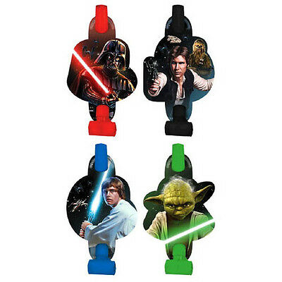STAR WARS Classic BLOWOUTS (8) ~ Birthday Party Supplies Favors Paper Yoda Green](Yoda Party Supplies)
