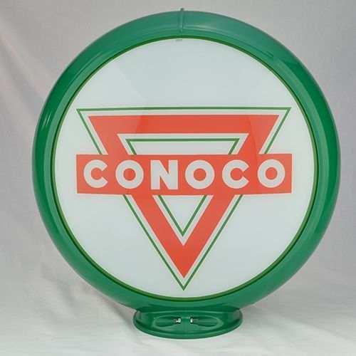 """CONOCO GASOLINE GAS PUMP GLOBE SIGN 13.5"""" GLASS LENSES"""