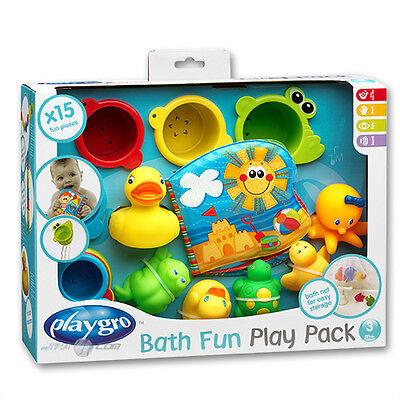 Playgro Rotho 15t tlg Badespielzeug Geschenkset Baby Spielzeug Wasserspielzeug