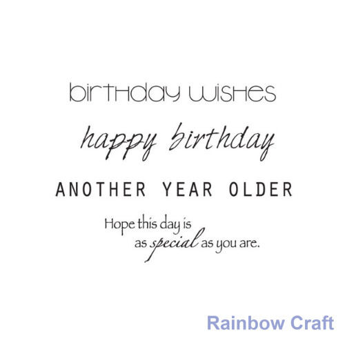 Kaisercraft mini stamps - 26 wording / patterns Scrapbooking card making - Birthday wishes